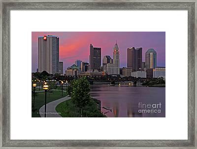 D2l37 Columbus Ohio Skyline Photo Framed Print