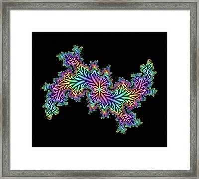 Computer-generated Julia Fractal Framed Print by Mehau Kulyk