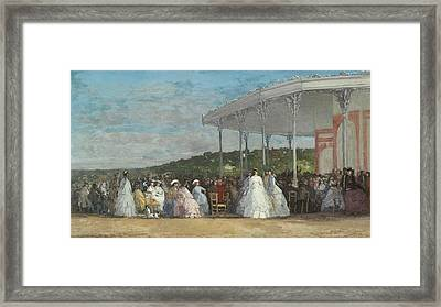 Concert At The Casino Of Deauville Framed Print by Eugene Boudin