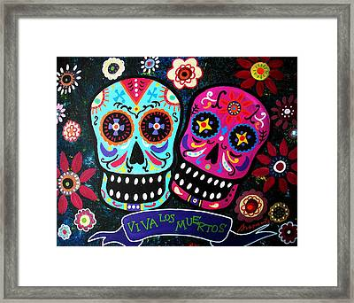 Couple Day Of The Dead Framed Print