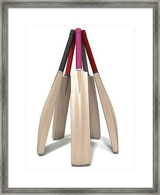 Cricket Bat Circle Framed Print