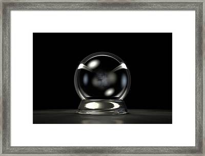 Crystal Ball Dark Framed Print