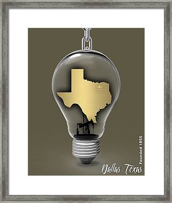 Dallas Texas Map Collection Framed Print by Marvin Blaine