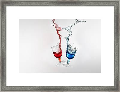 Dancing Drinks Framed Print by Peter Lakomy