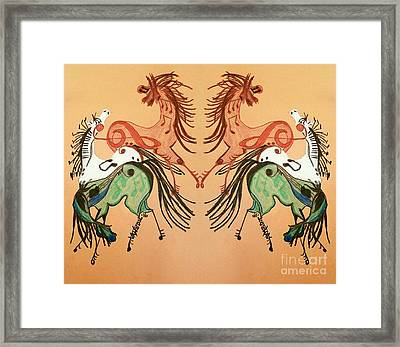 Dancing Musical Horses Framed Print by Scott D Van Osdol