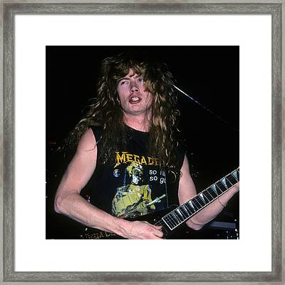 Dave Mustaine Of Megadeth Framed Print
