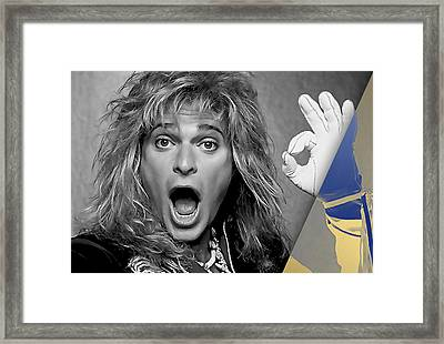 David Lee Roth Collection Framed Print