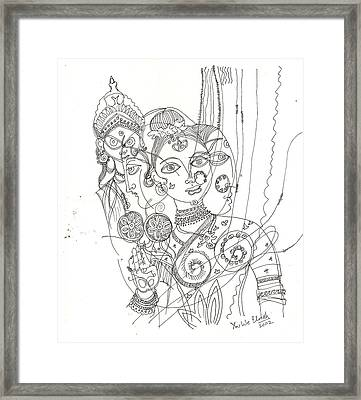 4 Deities Framed Print by Umesh U V
