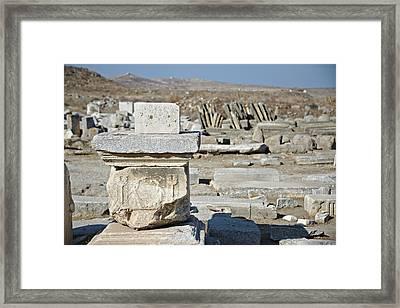 Delos Greece Framed Print