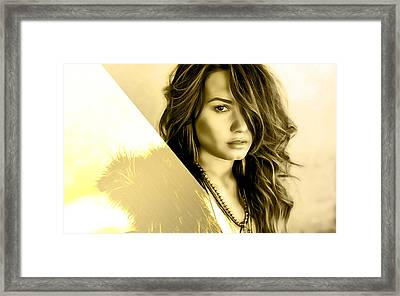 Demi Lovato Collection Framed Print