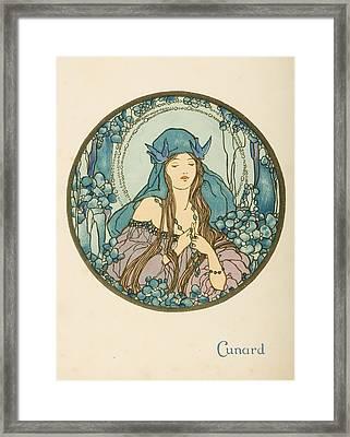 Dinner Menu. Cunard Line. R.m.s Framed Print by Vintage Design Pics