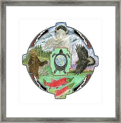4 Directions Mandala Framed Print by Tim McCarthy