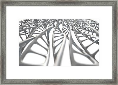 Dna Strand Micro Framed Print by Allan Swart