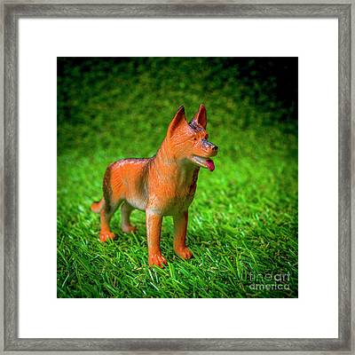 Dog Figurine Framed Print by Bernard Jaubert