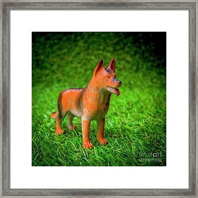 Dog Figurine Framed Print
