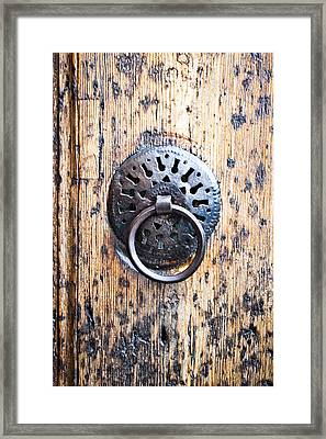 Door Handle Framed Print by Tom Gowanlock