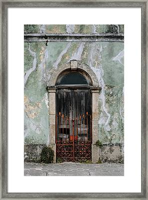 Framed Print featuring the photograph Door With No Number by Marco Oliveira