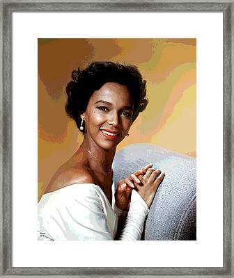 Dorothy Dandridge Framed Print by Charles Shoup