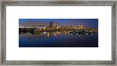 Downtown Chicago From Burnham Harbor Framed Print by Twenty Two North Photography