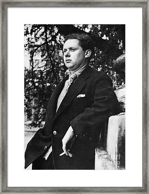 Dylan Thomas (1914-1953) Framed Print by Granger