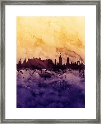 Edinburgh Scotland Skyline Framed Print by Michael Tompsett