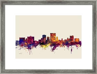 El Paso Texas Skyline Framed Print