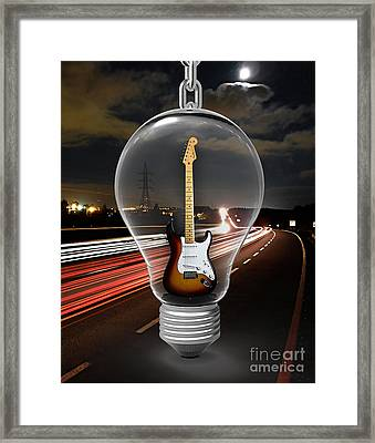 Electric Fender Stratocaster Collection Framed Print by Marvin Blaine
