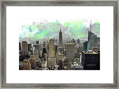 Empire State Framed Print by Martin Newman
