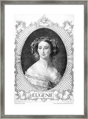 Empress Eugenie Of France Framed Print by Granger