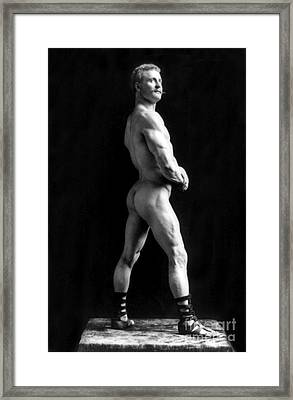 Eugen Sandow, Father Of Modern Framed Print by Science Source