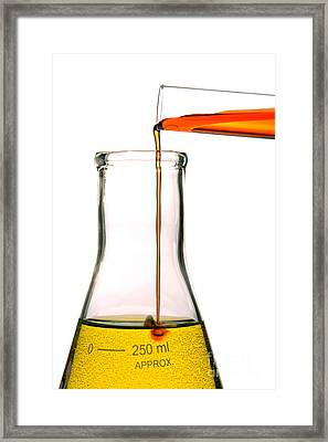Experiment In Science Research Lab Framed Print