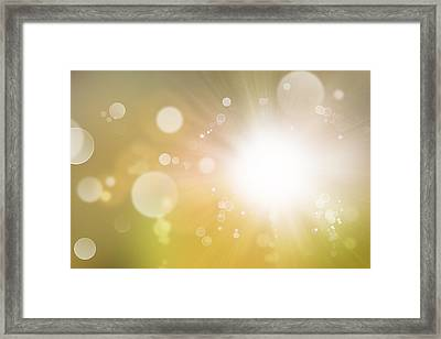 Explosive Background  Framed Print by Les Cunliffe