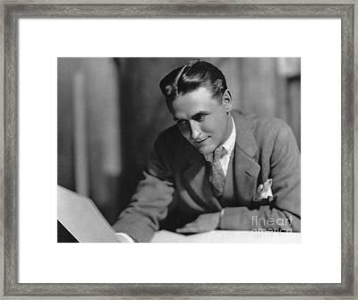 F. Scott Fitzgerald Framed Print by Granger