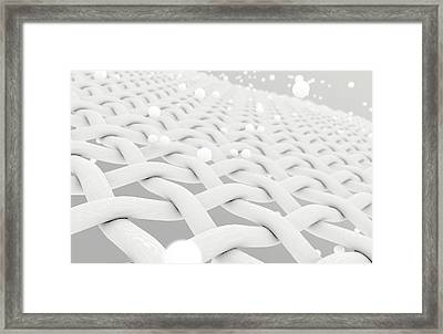 Fabric With Particles Framed Print