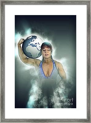Female Atlas Framed Print by Ilan Rosen