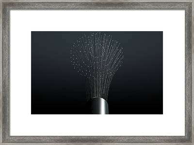 Fiber Optics Close Framed Print by Allan Swart