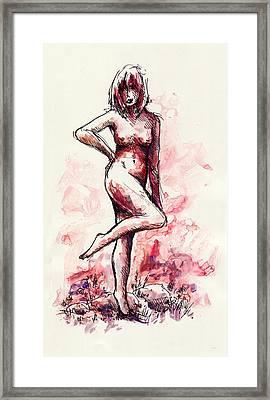 Figure Study Framed Print by Rachel Christine Nowicki