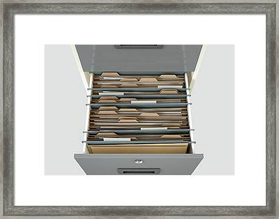 Filing Cabinet Drawer Open Generic Framed Print by Allan Swart