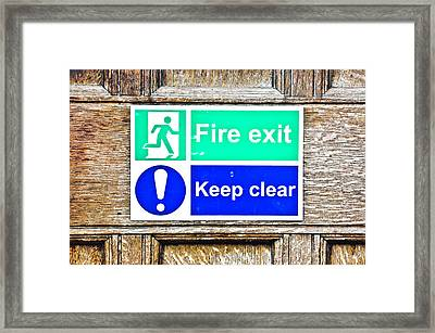 Fire Exit Framed Print by Tom Gowanlock