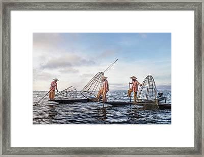 Fisherman Inle Lake - Myanmar Framed Print
