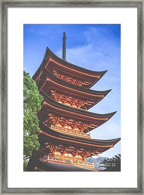 Five-storey Pagoda In Miyajima, Japan  Framed Print by Mariusz Prusaczyk