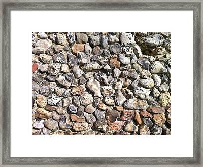 Flint Stone Wall Framed Print
