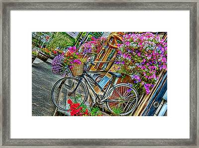 Flower Bike Collection Framed Print by Marvin Blaine