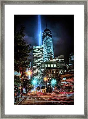 Framed Print featuring the photograph Freedom Tower by Theodore Jones