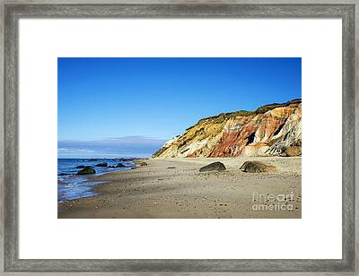 Gay Head Cliffs Framed Print