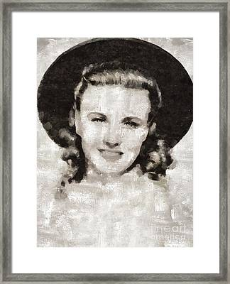 Ginger Rogers Hollywood Actress And Dancer Framed Print by Mary Bassett