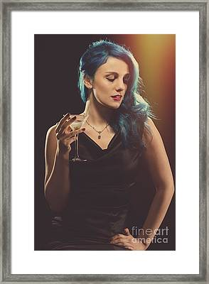 Glamorous Hollywood Style Woman Framed Print