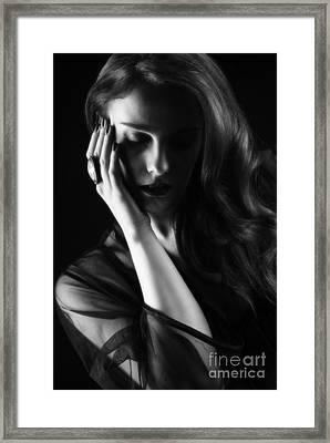 Glamorous Woman Framed Print by Amanda Elwell