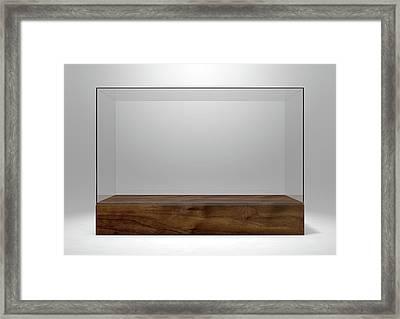 Glass Display Case Framed Print by Allan Swart