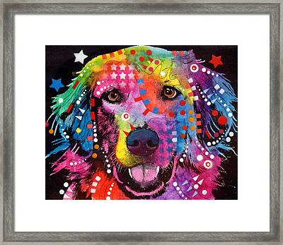 Golden Retriever Framed Print by Dean Russo